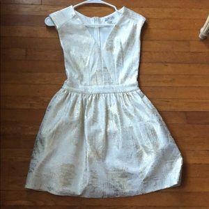 Mini ivory and gold dress